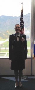 Lea in uniform